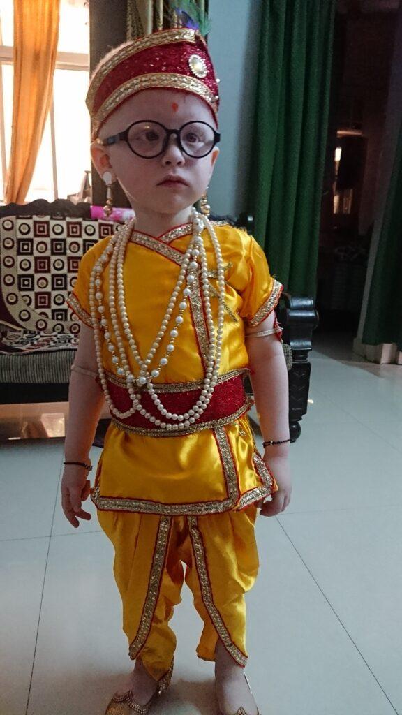 ambar gupta dressed as krishna 2